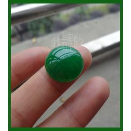 純天然緬甸翡翠玉戒面蛋面圓形裸石滿綠帝王綠玉戒指鑲嵌男女戒指