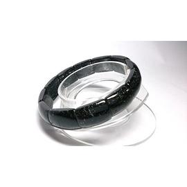 天然黑髮晶 手鐲型 手鍊^(珠^) 手環 有助於事業~避邪化煞 祈福消業障∼~原晶天然水晶