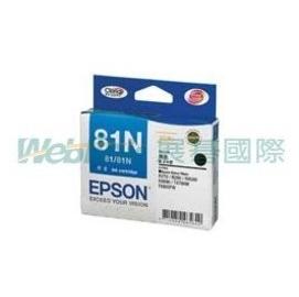 •~ 含稅 墨水匣~EPSON No.81N高印量L黑色墨水匣 Stylus Photo