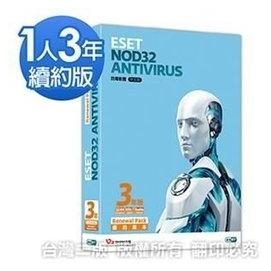 •~ 貨 含稅附發票~ESET NOD32 Antivirus 6.0 6 單機續約3年