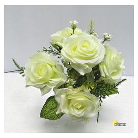 ^~橘子空間裝置藝術^~ 白色 逸情 小玫瑰花束~人造花 家飾 插花 花藝 盆花 小品 婚