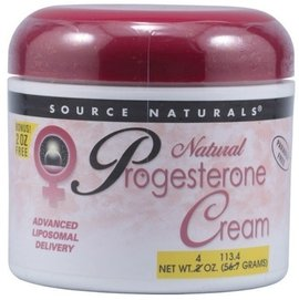 Source Naturals, 天然黃體素乳霜   Natural Progesterone Cream, 4 oz (113.4 g)