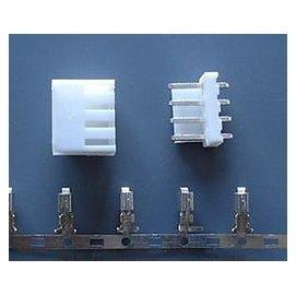 VH3.96MM-4P 接插件 一套:插頭 直插座 簧片  25套一拍   54046