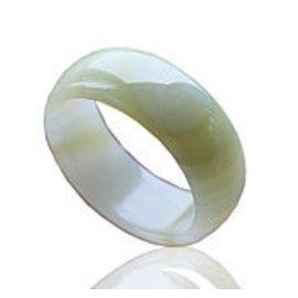 天然正品阿富汗玉手鐲寬版蘋果綠纏絲玉鐲白玉玉石女士鐲子