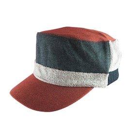 ~二鹿帽飾~ NO1 vivi定番款? 男女 厚棉雙層配色軍帽~ 2色