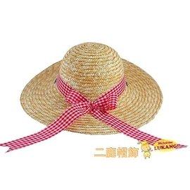 ~二鹿帽飾~ 渡假風水玉緞帶藤編遮陽帽.海灘草帽  小 麥桿海灘草帽