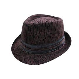 表演團體限定  風格~  仿絨布紳士帽 黑色緞帶 爵士帽 禮帽男式英倫紳士帽子~深咖.深灰