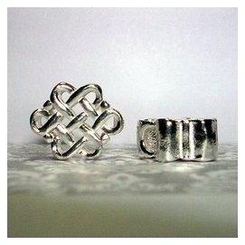 琥珀貓^~~925純銀材料 ~ 珠^~N8625款^~中國盤長結^~長10.5mm^~亮銀