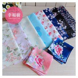 13 新品 外貿 超美全棉女士手帕 純棉薄款手絹 和風花朵集