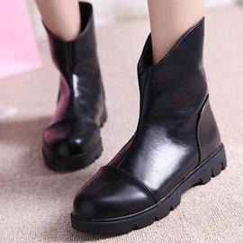 2014 粗跟中筒平底靴矮靴馬丁靴机車靴單靴女短靴
