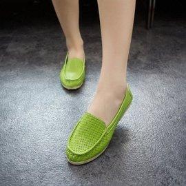 2015 平底小白鞋媽媽鞋大碼女鞋護士鞋豆豆鞋女 女單鞋