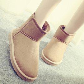 女鞋 平底短靴女靴子雪地靴短筒靴棉鞋單靴冬靴裸靴及踝靴