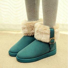 2014秋 加厚保暖女鞋女靴平跟厚底女 靴短靴雪地靴靴子