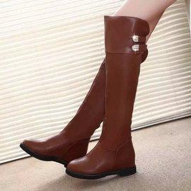 2014 真皮女靴高筒靴粗跟過膝靴騎士靴中跟長筒靴女長靴子