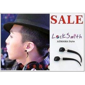 正韓 ASMAMA品牌正品 BIGBANG G~Dragon 權志龍 同款黑骷髏長彎角耳環