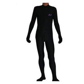 連手腳全包圍 長袖防曬連體遊泳衣 潛水服 水母衣衝浪服 黑色顯瘦
