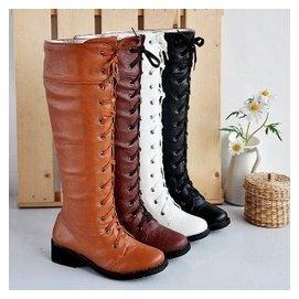 13孔馬丁靴綁帶馬甲長靴過膝靴高筒靴騎士靴 D692~1122