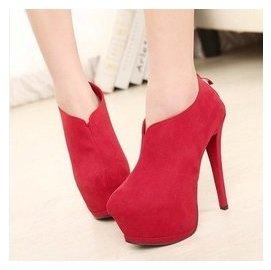 恨天高15cm超高跟鞋細跟防水臺夜店女靴裸靴純色短靴子婚鞋子 807