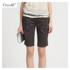 Calfland卡佛連2014夏裝 中低腰修身收腳中褲 女式五分褲
