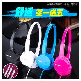 紅米2S華為魅族蘋果三星小米單孔頭戴式線控耳機帶麥克風話筒