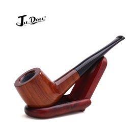 包邮巨斗品牌 进口非洲红木烟斗石楠木直斗手工实木烟斗赠八件套