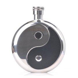 6安酒壺 太極八卦 便攜式隨身不鏽鋼男士酒壺 送酒杯漏鬥酒具