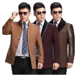 利郎男裝毛呢夾克 2014秋裝 男士外套商務 西裝領羊毛夾克