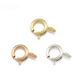 18K金手鏈扣 項鏈扣彈簧扣 DIY 18K黃金白金玫瑰金彩金