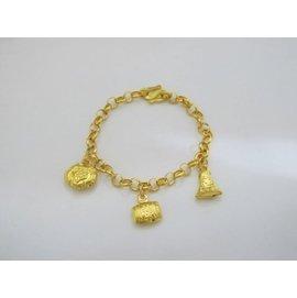 小孩彌月黃金手鍊~重約1.00錢~小孩平安健康~送禮自戴首推~~幸福金~編號GL0018