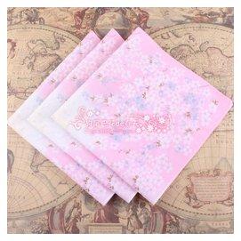 5條 出口 80支純棉女士手帕 全棉印花手絹汗巾 櫻花季節