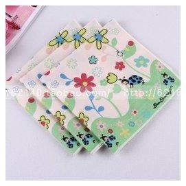 韓式超柔軟呼吸棉卡通手絹全棉兒童女士手帕純棉汗巾方巾 甲殼蟲