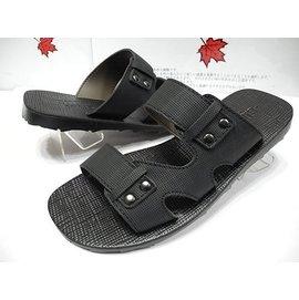唯美品皮鞋 GUGGI 時尚流行男休閒拖鞋 1028型 黑色 台灣製造