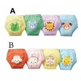 西松屋四層防水嬰兒寶寶學習褲 純棉隔尿布尿褲 訓練褲 面包褲