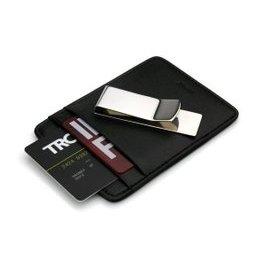 德國TROIKA 金屬錢夾男短款 卡夾超薄真皮錢包鈔票夾 牛皮卡套