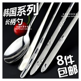 不鏽鋼湯勺 勺子調羹湯匙 韓國長柄 叉勺筷子西餐旅行便攜套裝