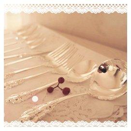 大美雕花鏤空餐具 西餐叉勺套裝 巴洛克古典 罕見 防氧化