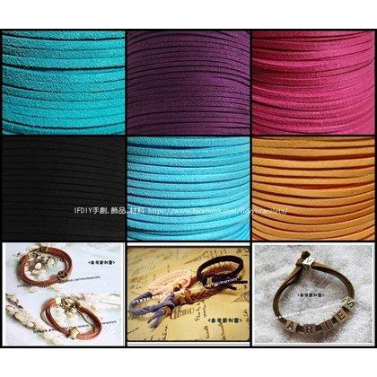 韓國絨 方皮繩 整卷100碼 純銀  材料 項鍊手鍊 仿皮繩編織