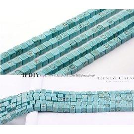 藍松石 小立方 5mm DIY  手創 材料 特色造 型 串珠