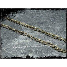 Zakka飾品 古銅扭轉十字鏈 6mm 項鏈 手鏈 延長鏈 DIY 吊飾 手做材料 K60