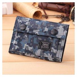 迷彩 中學生 帆布包錢夾女 男士 短款潮流錢包皮夾