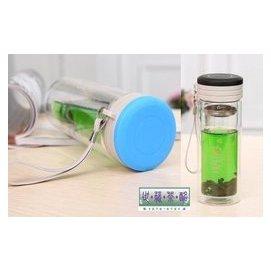 ^~世藏茶酩^~烏龍茶^|普洱茶^|花草茶 雙層玻璃杯 吊帶真空水杯