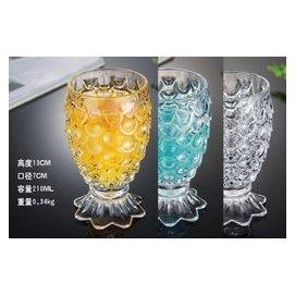 世藏茶酩 玻璃杯子 甜品杯 奶茶杯 果汁杯 菠蘿杯 奶昔杯 冰淇淋杯 飲料杯 加厚耐熱