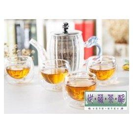 世藏茶酩 耐熱玻璃 品茗杯 小茶杯 功夫茶具 杯子 雙層杯 帶把 花茶杯 加厚