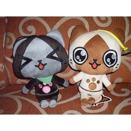 可愛娃娃  ^~  遊戲^~魔物獵人AIROU艾路貓吸盤絨毛娃娃~~~約22公分