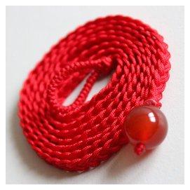 正品開光 天然紅瑪瑙腰鏈 手編紅繩14MM轉運珠 本命年 女款百搭