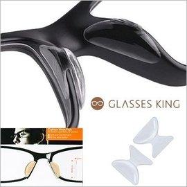 眼镜王☆DIY自黏式矽胶防止滑加高鼻垫贴鼻托板料眼镜透明塌鼻人鼻低塌救星