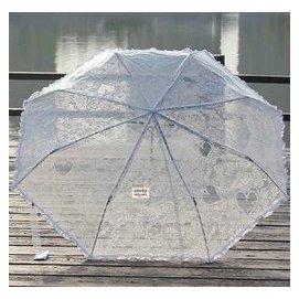 ~EZBUY~戶外 ~EZBUY~ 透明傘 三折傘 折疊透明傘 蕾絲傘 全透明折疊雨傘