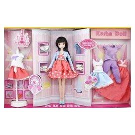 專櫃正品中國芭比可兒娃娃 派對·陽光心情套裝 3038洋娃娃