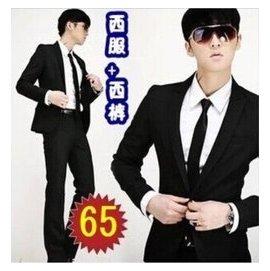 2014 韓男士西服套裝西裝男修身新郎結婚伴郎禮服職業商務正裝