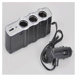 ~淡水無國界~ 車用 點菸器 一分三 WF~0120 三孔插座 USB插孔 一孔轉三孔 點